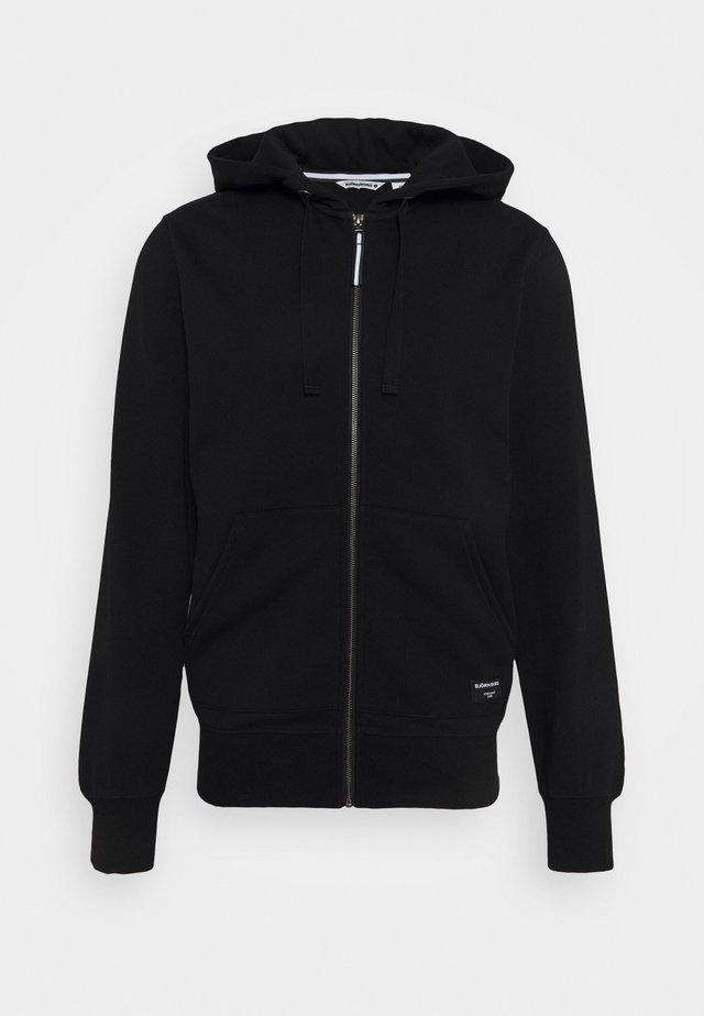 CENTRE ZIP HOOD - Zip-up hoodie - black beauty