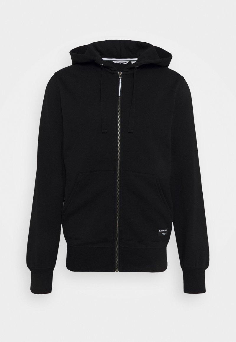 Björn Borg - CENTRE ZIP HOOD - Zip-up sweatshirt - black beauty