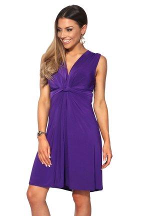 KNOT FRONT SELF - Cocktailkjoler / festkjoler - purple