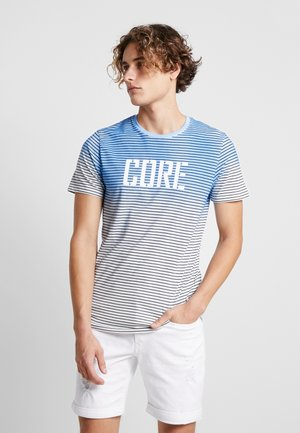 JCODROWN TEE CREW NECK - Print T-shirt - maritime blue