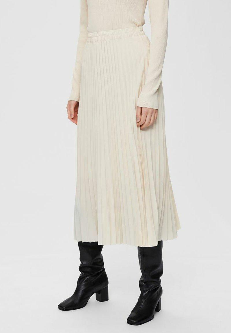 Selected Femme - Áčková sukně - birch