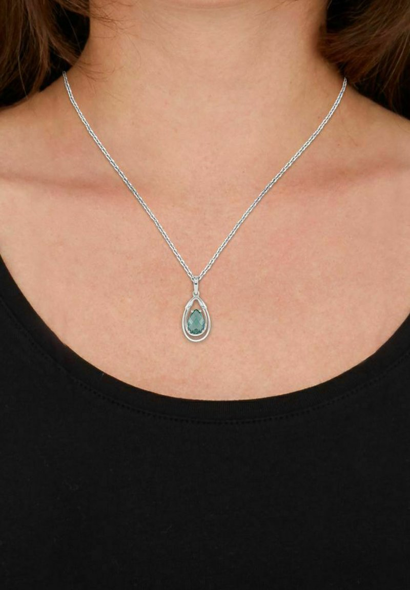 amor - Necklace - silver/Grün