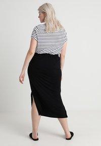 Zizzi - ANGLE SKIRT - Maxi skirt - black - 2