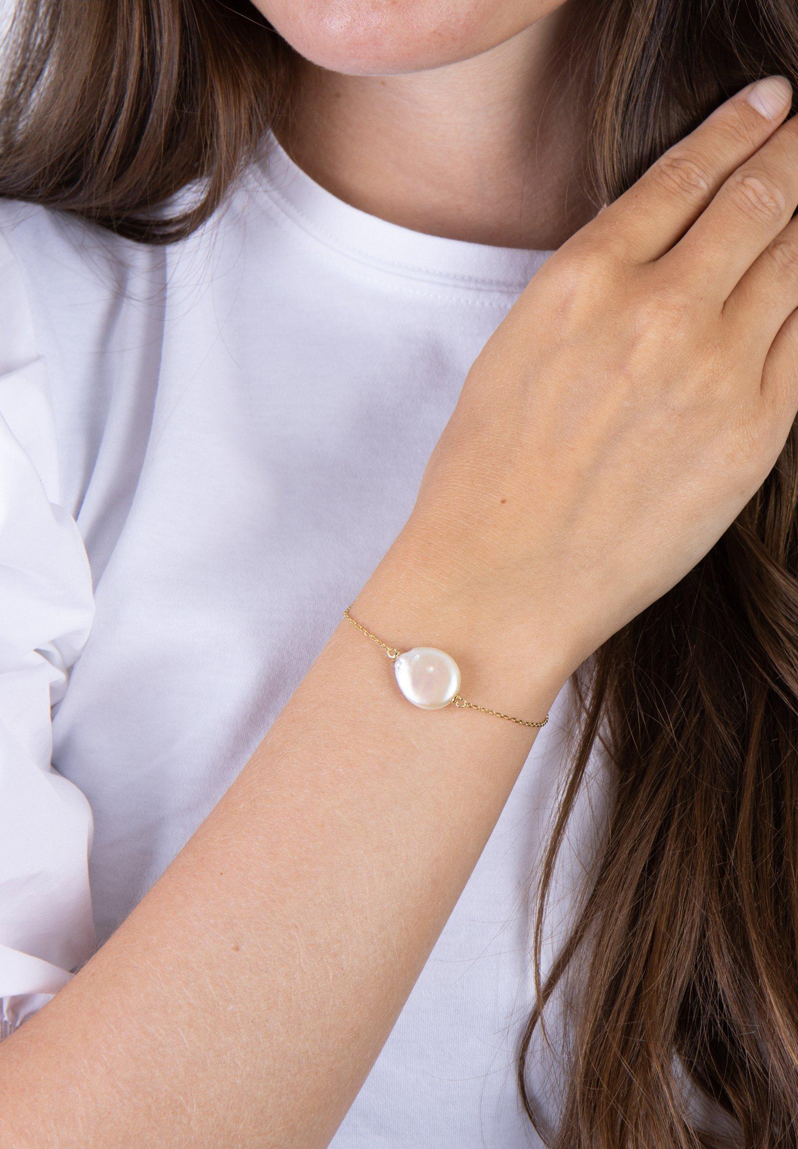 Femme ARMBAND MIT SÜSSWASSERPERLE - Bracelet