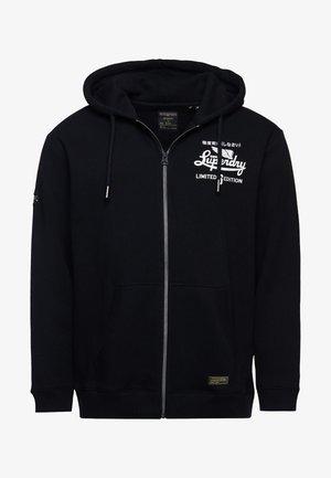 GRAPHIC - Zip-up sweatshirt - black