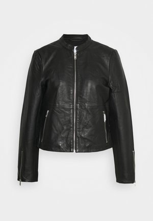 SLFIBI JACKET - Kožená bunda - black