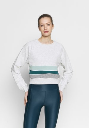 ONPFAMA LIFE CROPPED - Sweatshirt - white melange/balsam