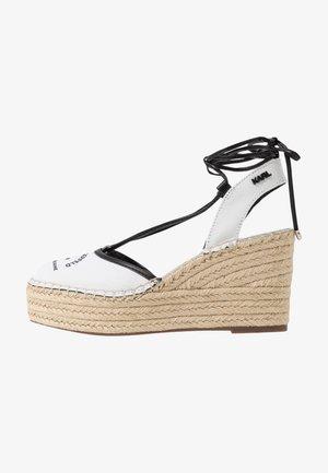 KAMINI MID MAISON SLINGBACK - Sandalias de tacón - white