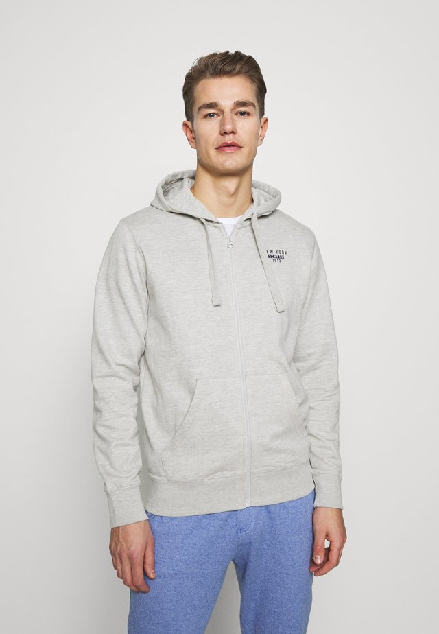 Zip-up hoodie - heather grey