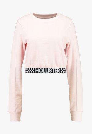 ULTRA CROP CREW WITH LOGO BAND - Sweatshirt - pink