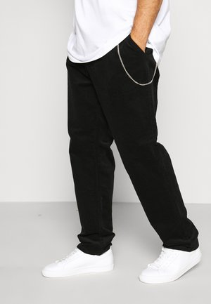 CROPPED PANTS - Tygbyxor - black