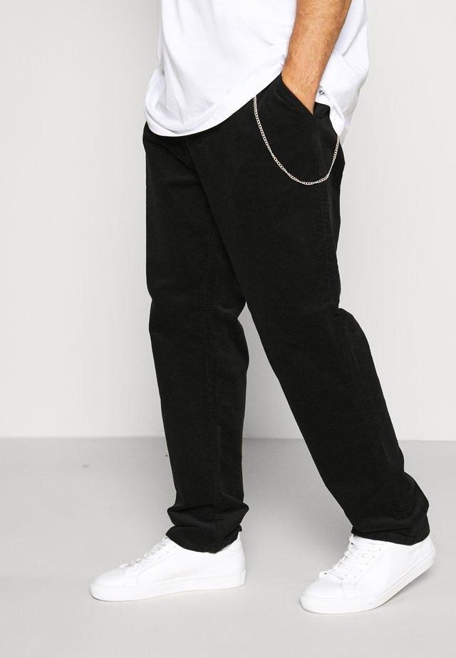 CROPPED PANTS - Kangashousut - black