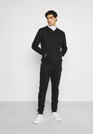 GREYJOY SET - Zip-up hoodie - jet black/ dark charcoal marl