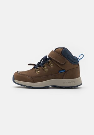 KIVUTA UNISEX - Hiking shoes - brown/navy