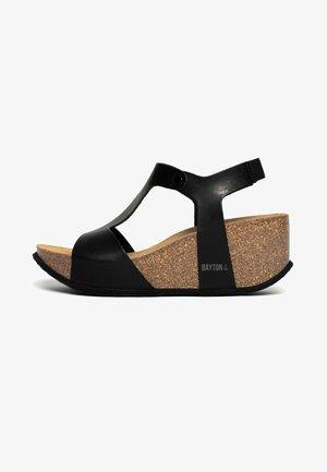 MADRIDA - Wedge sandals - black