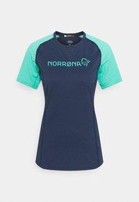 Norrøna - FJØRÅ EQUALISER LIGHTWEIGHT - T-shirt imprimé - arcadia/indigo night - 3