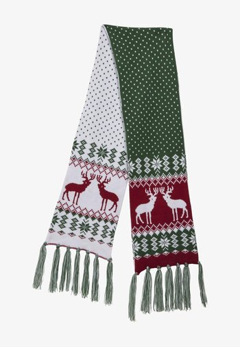 Scarf - green/red