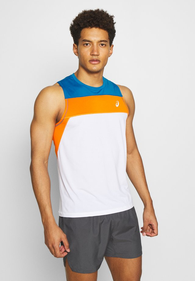 RACE SINGLET - Sports shirt - brilliant white/reborn blue