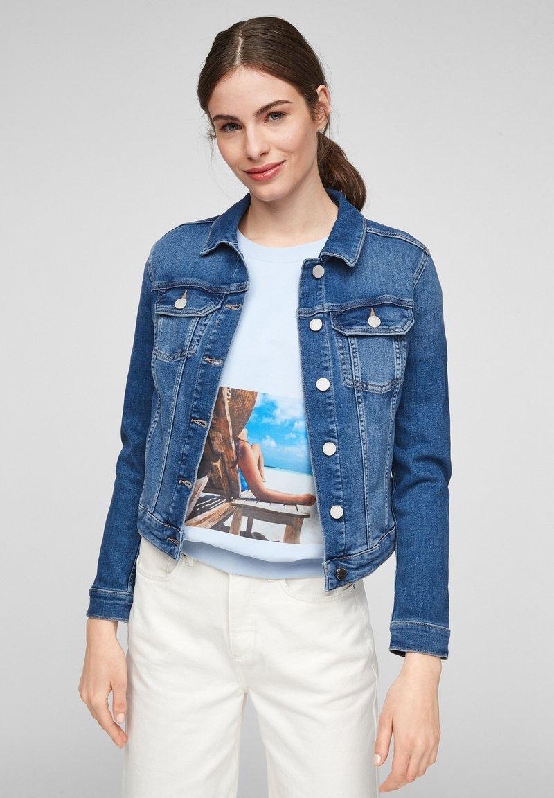 comma casual identity - Denim jacket - blue