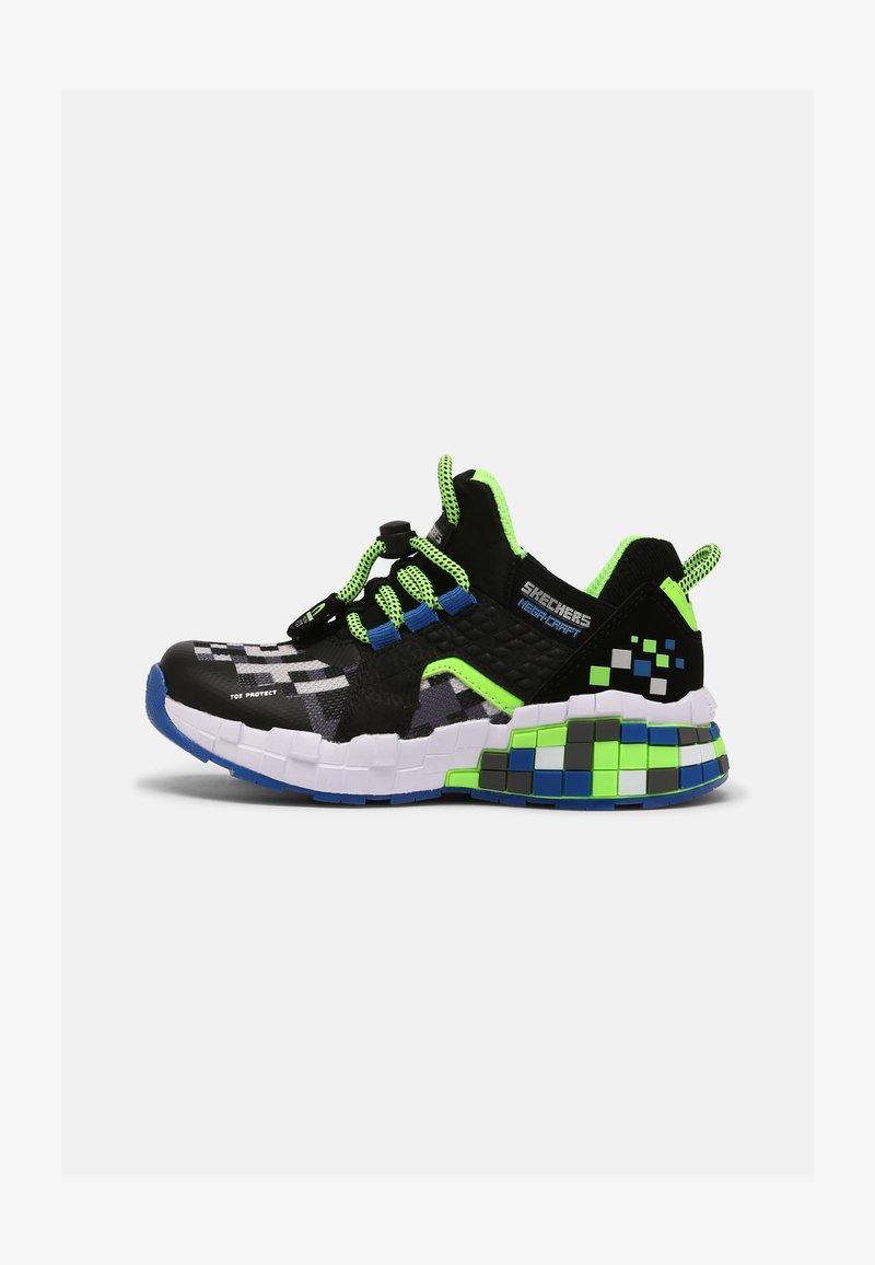Skechers - MEGA-CRAFT - Trainers - black/blue/lime