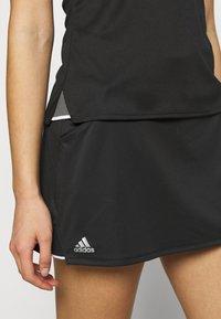 adidas Performance - CLUB SKIRT - Sports skirt - black/silver/white - 4