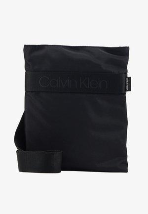NASTRO LOGO FLAT CROSSOVER - Across body bag - black