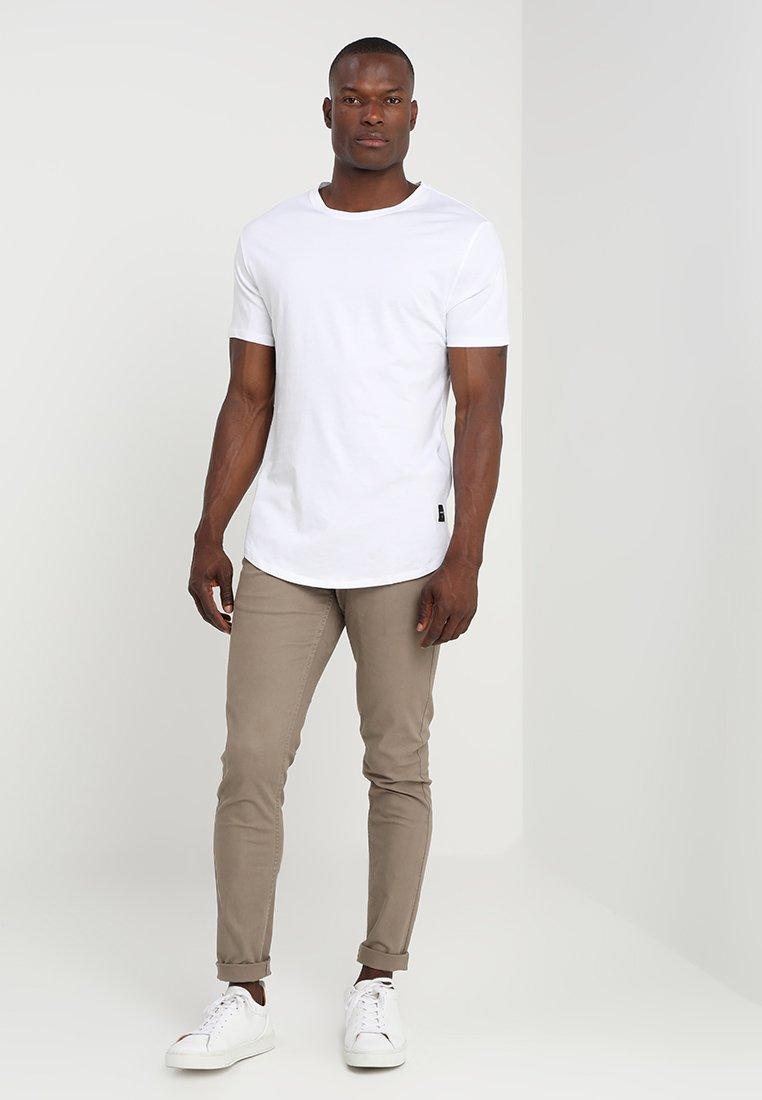 Only & Sons - ONSMATT LONGY 7 PACK - T-shirts - white/black/light grey melange