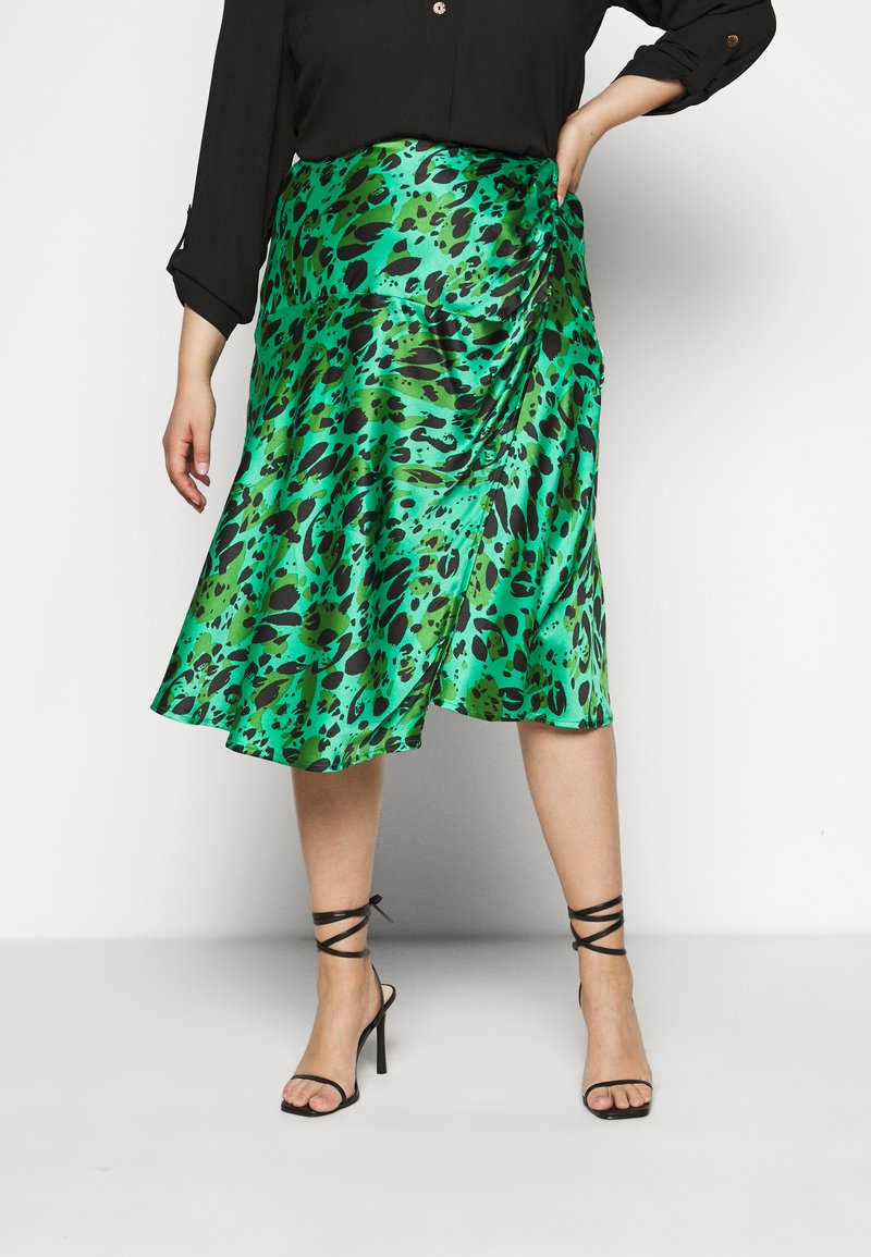 Simply Be - MIDI SKIRT - A-line skirt - green