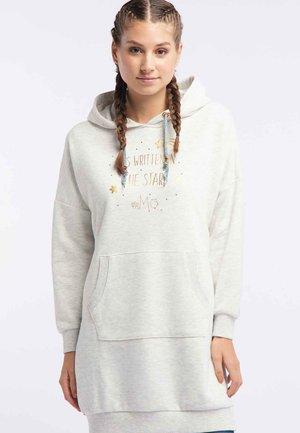 Day dress - wool white melange
