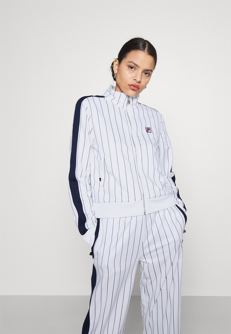 Fila - HALA TRACK JACKET - Summer jacket - blanc de blanc/black iris