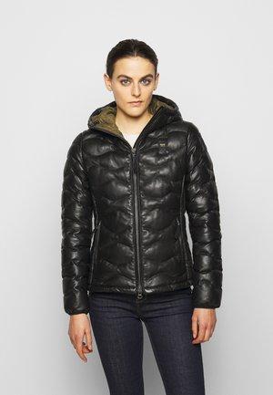 CAPO SPALLA IMBOTTITO - Leather jacket - black