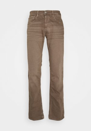 GROVER - Straight leg jeans - mud
