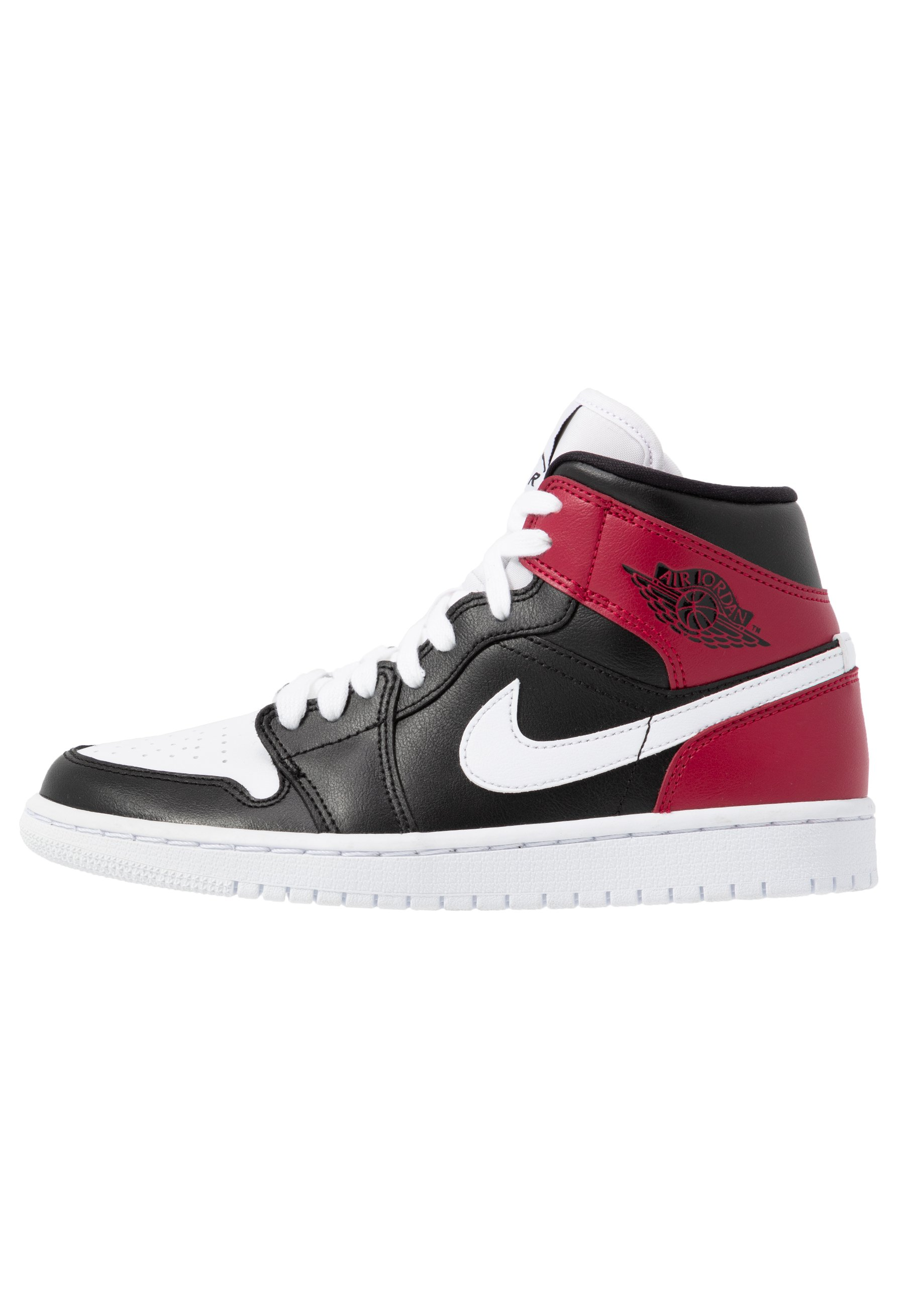 AIR 1 MID - Sneakers alte - black/white/noble red