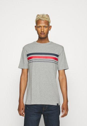 CHEST STRIPE 2 PACK - Print T-shirt - navy/grey marl
