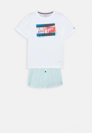SHORT PRINT SET - Pyžamová sada - white