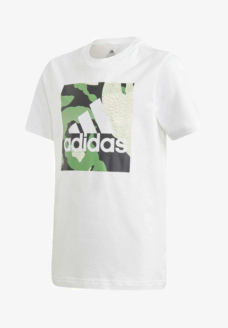 adidas Performance - CAMO GRAPHIC T-SHIRT - Print T-shirt - white
