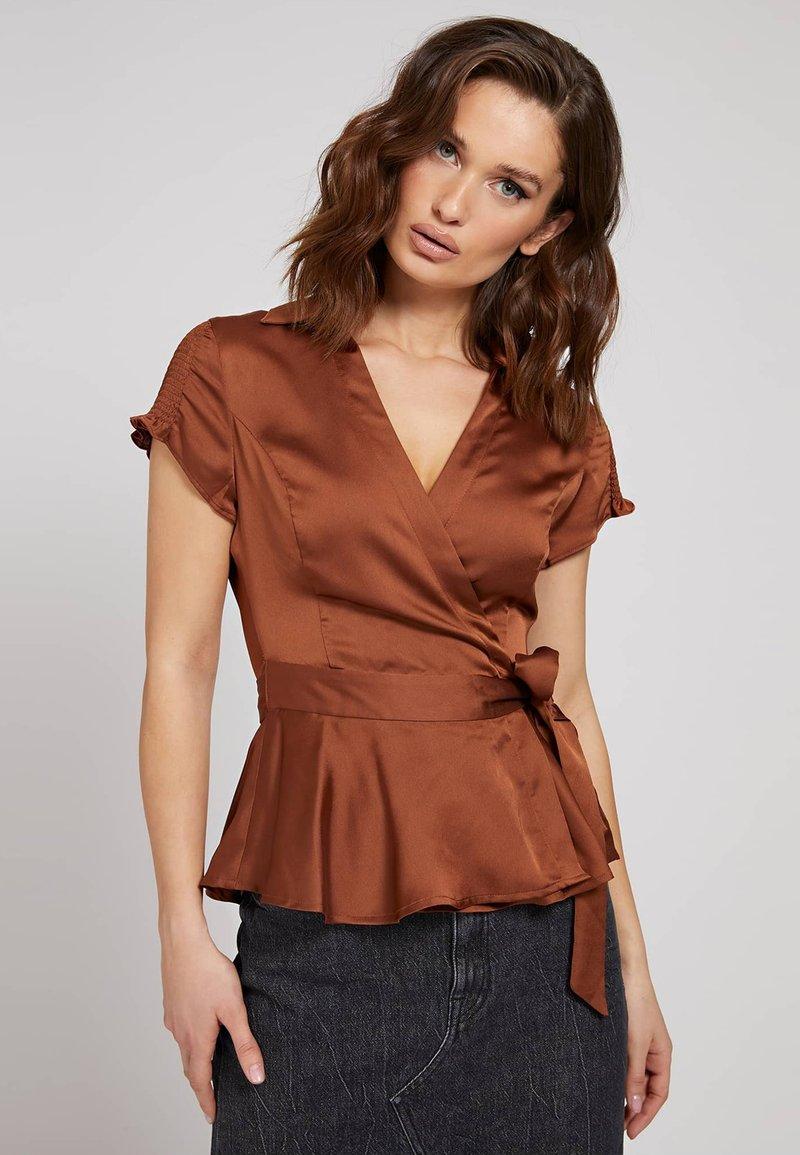 Guess - Button-down blouse - braun