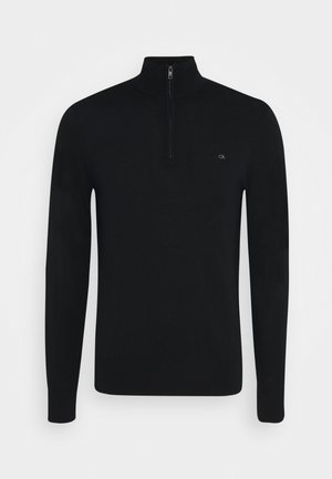 SUPERIOR ZIP MOCK - Jumper - black
