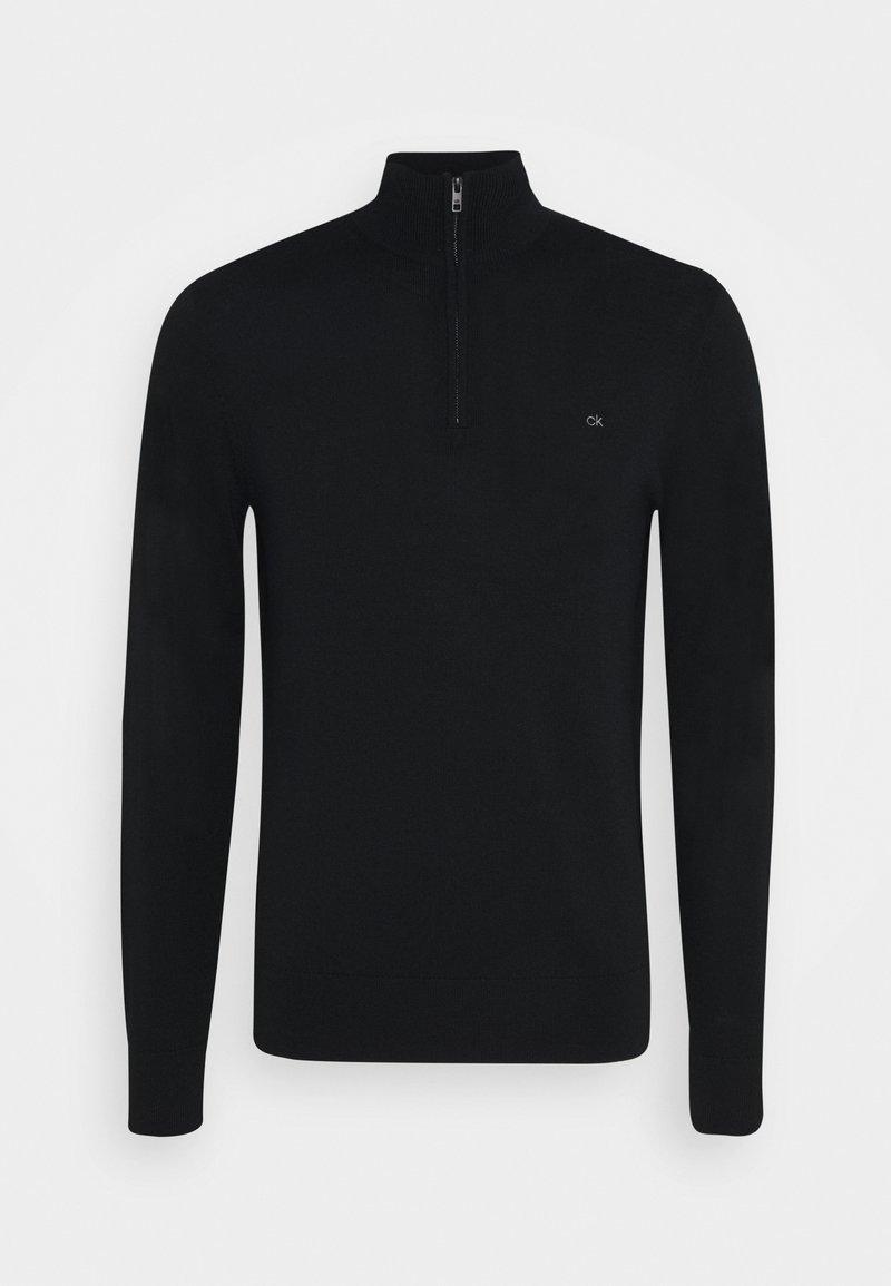 Calvin Klein - SUPERIOR ZIP MOCK - Jumper - black