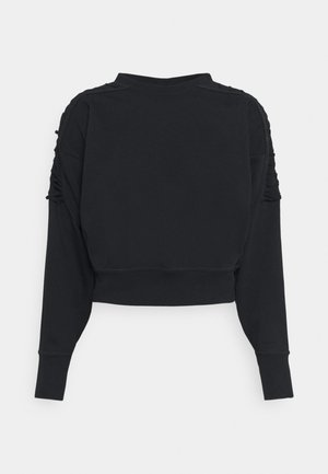 CROP CREW - Sweater - black