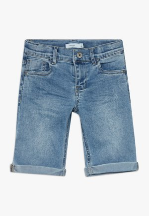 NKMSOFUS LONG - Jeansshort - light blue denim