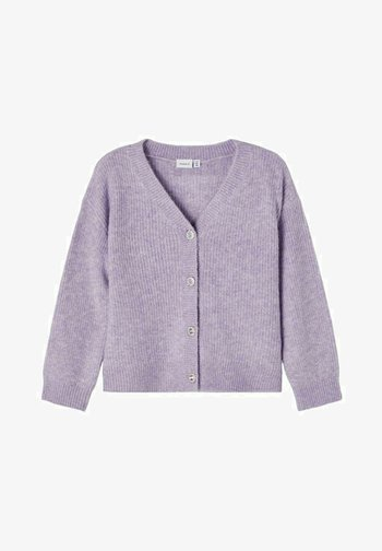 Cardigan - purple heather