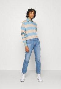 Monki - Long sleeved top - blue light/beige light - 1
