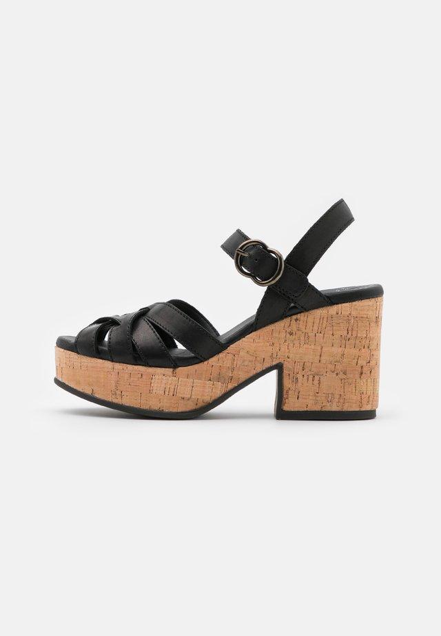 Sandály na platformě - alfa nero