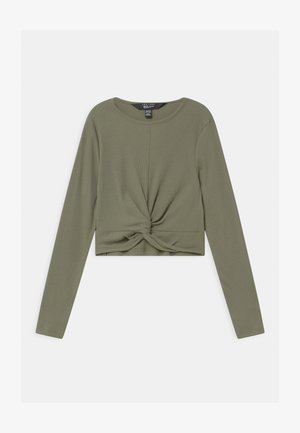TWIST FRONT - Long sleeved top - khaki