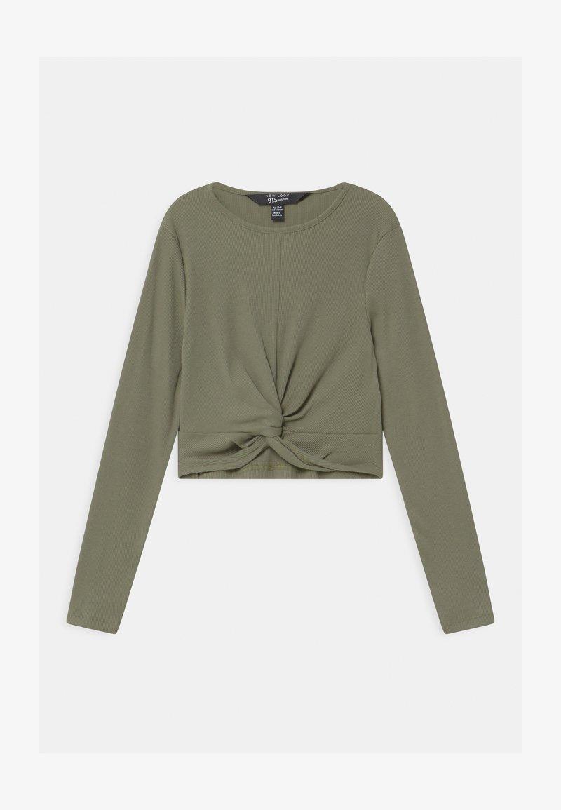 New Look 915 Generation - TWIST FRONT - Langærmede T-shirts - khaki