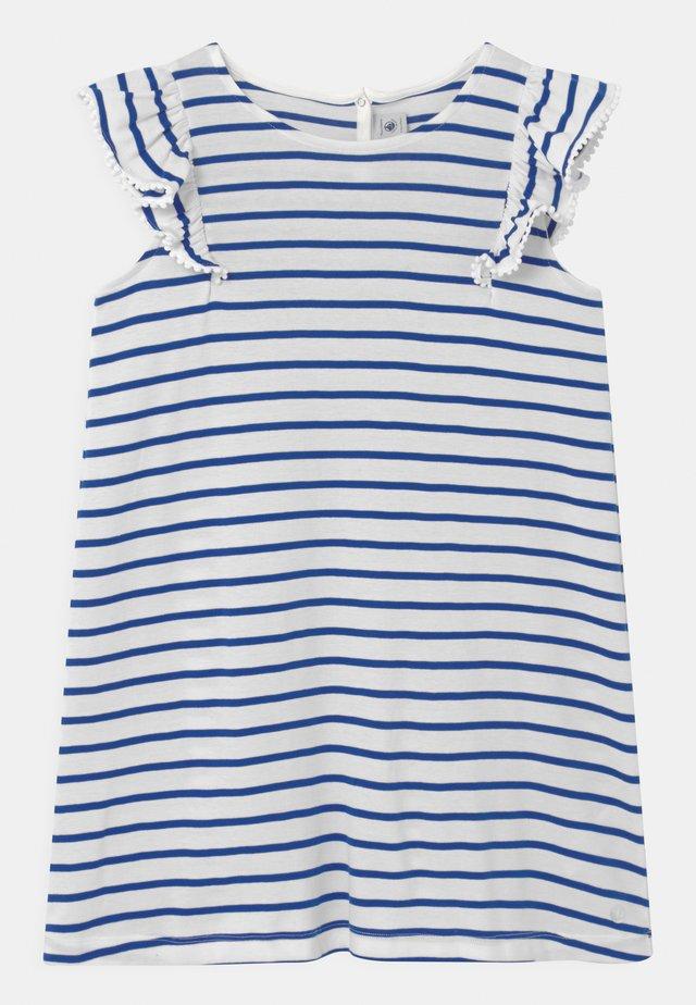 MELODY - Vestito di maglina - dark blue/white