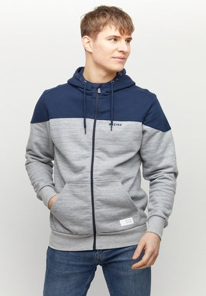 Zip-up hoodie - navy grey melange