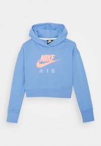 Nike Sportswear - AIR CROP HOODIE - Hoodie - royal pulse/white/atomic pink - 0