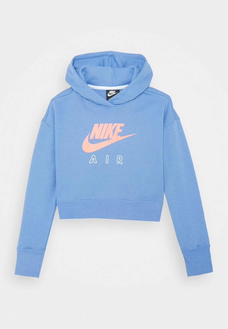 Nike Sportswear - AIR CROP HOODIE - Jersey con capucha - royal pulse/white/atomic pink